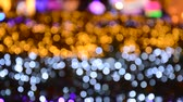 díszít : Bangkok Thailand December 16, 2017 :  blurry colorful light background and texture follow focus to clear on night in Thailand illumination festival 2017 Stock mozgókép