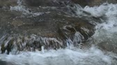 catarata : water flowing on the rock and wave splashing in river Stock Footage