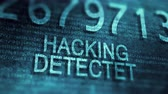 infecção : Hacking detected - Data is protected. 4K UHD animation security concept.