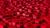 rubi : Slow motion ruby red cubes as animation loop background