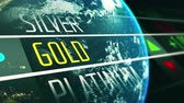 Global gold price on stock exchange market animation concept Wideo