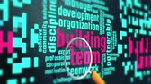 prostředky : Team building. Motivational marketing words in 4K UHD animation loop.