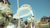 kolumny : wedding arch with flowers. Wedding decor