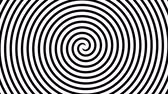 Black and white hypnotic spiral illusion background. Vídeos