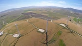 linha do horizonte : Large wind farms, aerial view