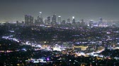 kalifornie : time lapse of Los Angeles downtown at night