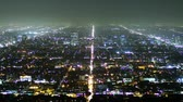 glow : Los Angeles at night, time lapse Stock Footage