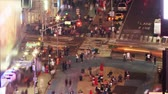 vezes : Crosswalk at evening. Time lapse and loopable. Times Square, New York Stock Footage