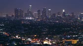 rápido : time lapse of Los Angeles downtown at evening