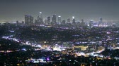 não urbano : urban downtown at night, time lapse