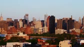 estados unidos da américa : sunrise over Manhattan, time lapse
