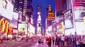 vezes : Time lapse of Times Square traffic at evening