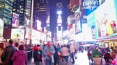 vezes : Time lapse of Times Square traffic at night