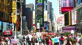 vezes : Time lapse of Times Square traffic at daytime Stock Footage