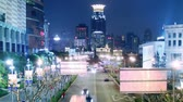 illumination : traffic in shanghai at night, time lapse