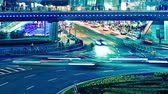 time lapse video of light trails of city traffic in shanghai, china. loopable