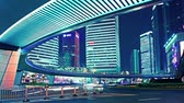 metropolitano : time lapse video of light trails of city traffic in shanghai, china. loopable