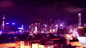 hong kong : Hong Kong skyline at night. time lapse