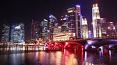 leão : Singapore cityscape at night. time lapse