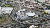 intersection :  birds-eye view of intersecting highways