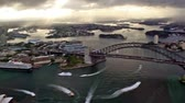 pod vodou : aerial view of the Sydney city at sunset, Australia