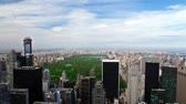 metropolitano : high floor view to the Central park, New York, time lapse