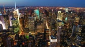 Нью Йорк : New York skyline at sunset time lapse 6sec