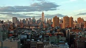 não urbano : time lapse of New York skyline at night
