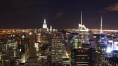 Нью Йорк : time lapse of New York skyline at night