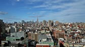 downtown : New York skyline time lapse Stock Footage