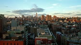 nova iorque : time lapse of New York skyline at sunset