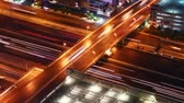 automóvel : traffic at night, time lapse Stock Footage