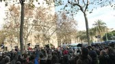 strike : Barcelona, Spain 12.21.2018 : Catalan nationalist uprising against the government and police of Spain in Barcelona