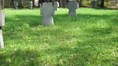 morrer : old military cemetery Stock Footage