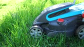 tereprendezés : Lawn Mower is mowing the lawn