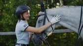 eyer : Happy moments with a horse Stok Video