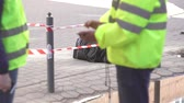 terörist : police cordoned off the street, a dangerous find bomb