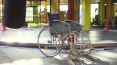 life support : A wheelchair is in the gym.The concept of sports injury.