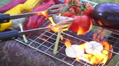 saslik : beautiful grilled vegetables with fire
