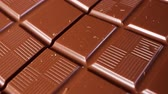 Chocolate bar cloesup rotating macro background backdrop footage video.