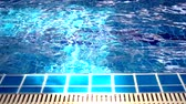 Close up Swimming Pool with sun light slow motion