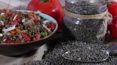 mercimek : lentil with tomatoes and onions Stok Video