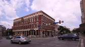 tégla : Historic building at the Commerce Street in the city of San Antonio, Texas. April 11, 2016 in San Antonio, Texas, USA Stock mozgókép