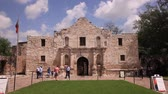 misja : The Alamo Mission in San Antonio. April 11, 2016 in San Antonio, Texas, USA Wideo