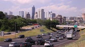 congestionamento : Heavy rush hour traffic on the highway near Austin city. April 11, 2016 in Austin, Texas, USA