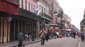 bayrak : Street in the historic french quarter in the city of New Orleans. April 16, 2016 in New Orleans, Louisiana, USA