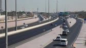 kurtuluş : Traffic on the First Ring Road - a  five lane city highway in Kuwait City. Stok Video