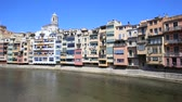 katalánsko : View over the old town of Girona, Catalonia, Spain