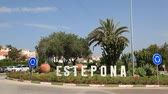 Roundabout in the city of Estepona, Province of Malaga, Andalusia, southern Spain Wideo