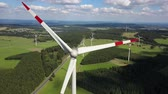 Wind turbine or sustainable and clean energy. Drone footage